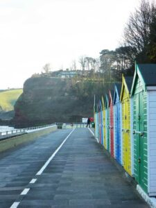 Beach huts at Dawlish seafront